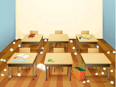 Un'illustrazione del modello di classe sporca Vettoriali