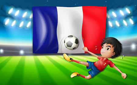 A french football player template illustration