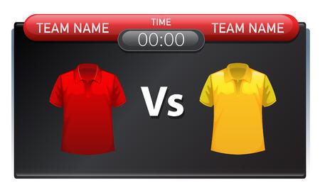 A sport scoreboard template illustration 向量圖像