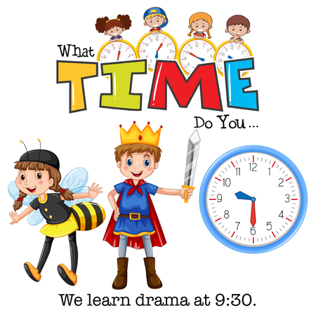 Students learn drama at 9:30 illustration