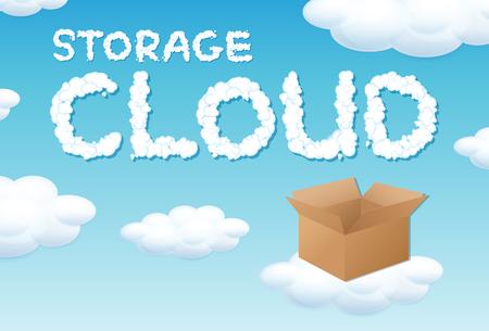 Storage cloud box concept illustration