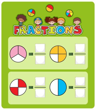 Ilustración de plantilla de hoja de cálculo de coincidencia de matemáticas Ilustración de vector