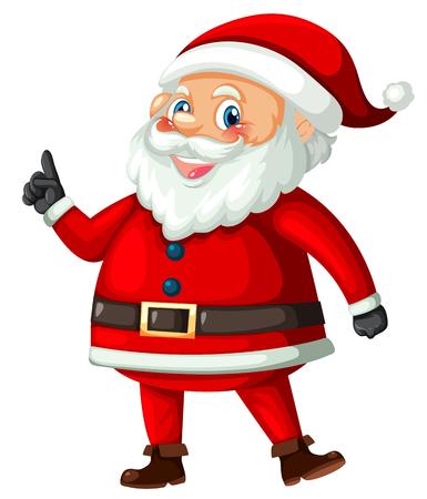 Santa claus on white background illustration Vettoriali