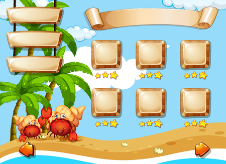 Summer day game template illustration Illustration