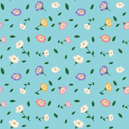 Beautiful flower seamless pattern illustration