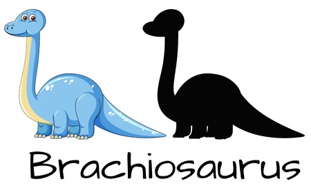 Different design of brachiosaurus dinosaur illustration Illustration
