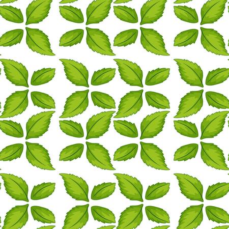 Green leaf seamless pattern illustration