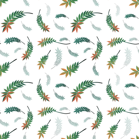 Beautiful nature leaf seamless pattern illustration Vektoros illusztráció