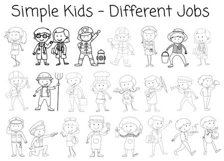 Set of doodle character illustration