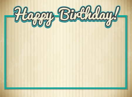 Blank birthday card template illustration Stock Illustratie
