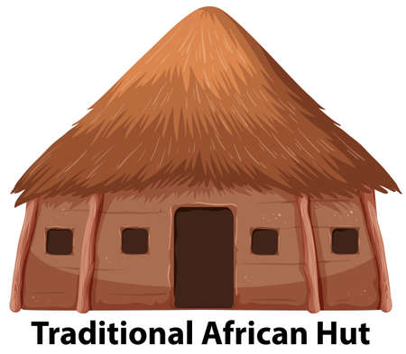 A traditional african hut illustration