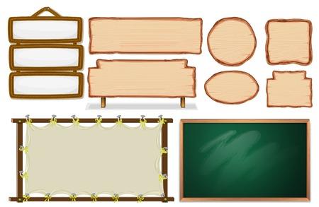Set of empty board illustration