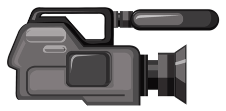 A professional video camera illustration Vettoriali