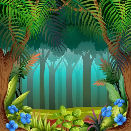 A nature theme template illustration