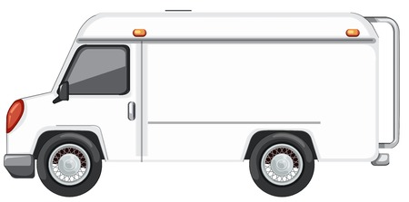 A white van on white background illustration