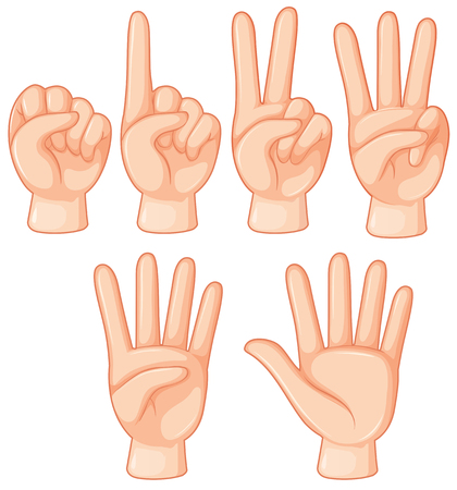 Set of hand gesture illustration Stockfoto - 121752201