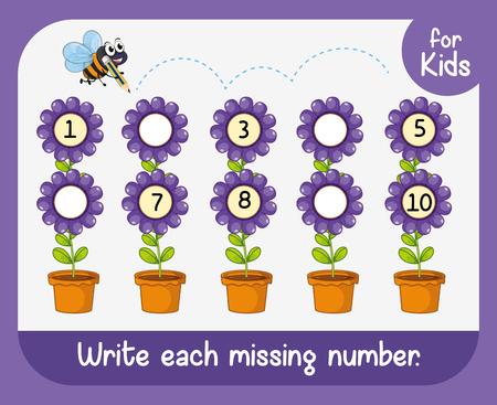 Write each missing number illustration