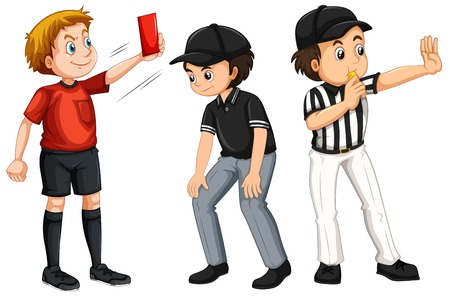 Set of referee character illustration