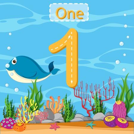 How to write number seven illustration Illustration