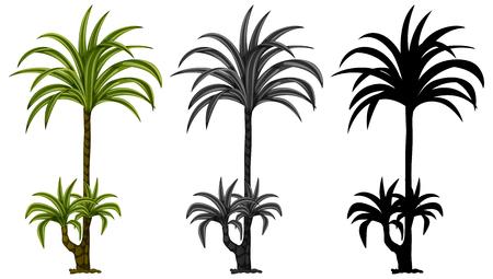 Set of plant design illustration