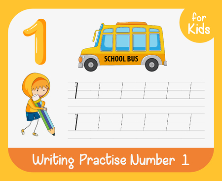 Number one tracing worksheets illustration