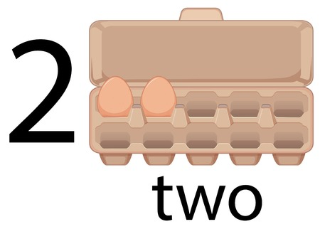 Two egg in preschool, school, illustration