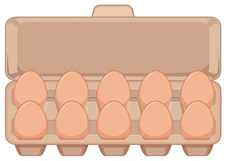 Isolated egg in carton illustration