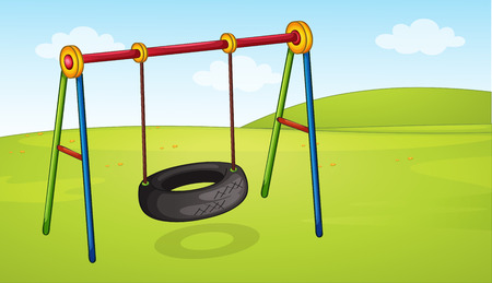 A wheel swing in the park illustration
