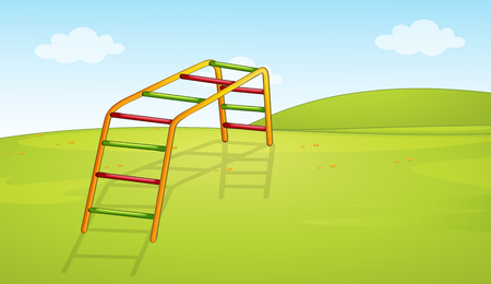 A playground equipment background illustration Illustration