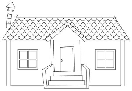 Simple modern house outline illustration