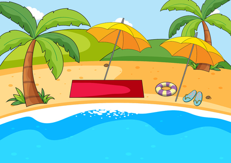 A simple beach background illustration