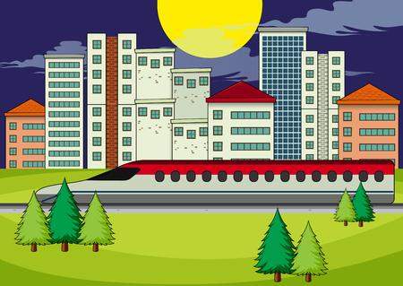 A transportation in modern city illustration