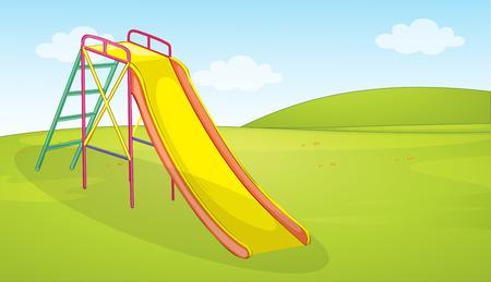 A playground slide background illustration
