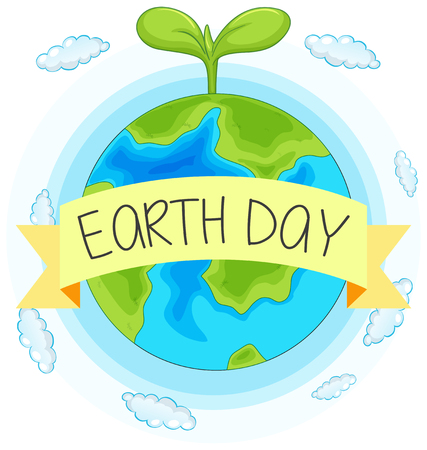 Earth day background concept illustration