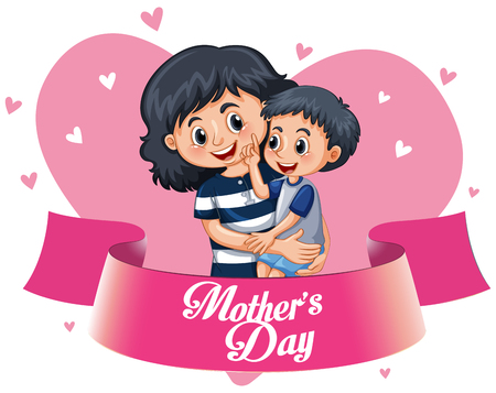 A happy mothers template illustration