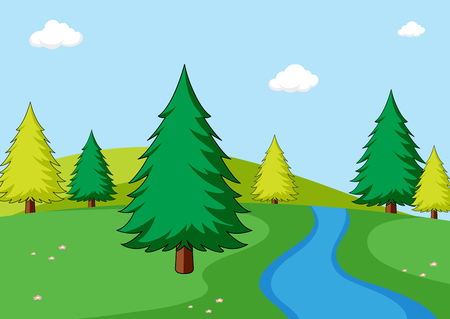 A simple nature scene illustration