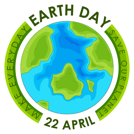 Concept earth day poster illustration