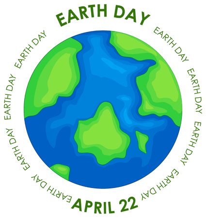 Earth day concept poster illustration Ilustrace