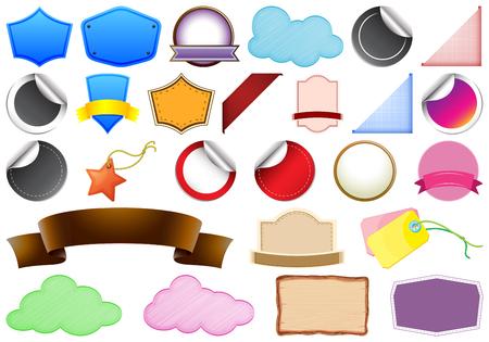 Set of tag label illustration