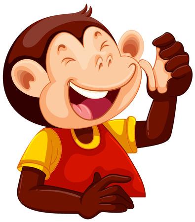 A happy monkey character illustration