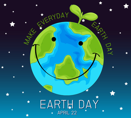 An earth day logo illustration Illustration