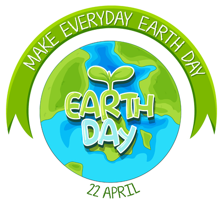 An earth day logo illustration Banque d'images - 122511992