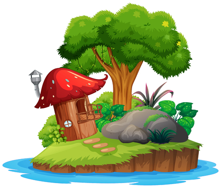 An isolated nature island illustration