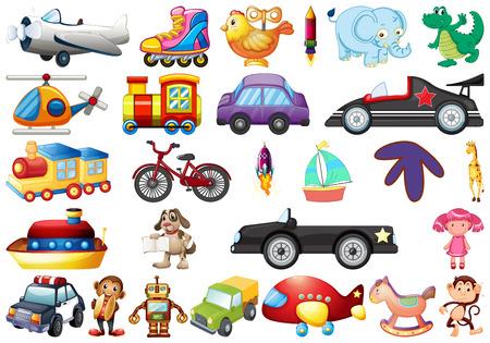 Set of children toys illustration