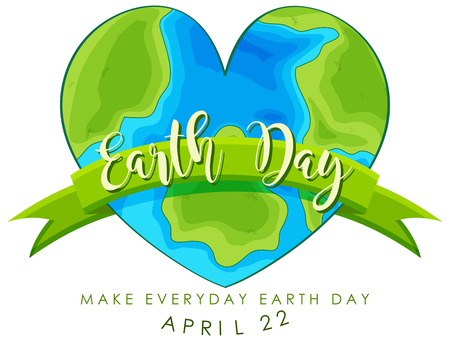 An earth day logo illustration Banque d'images - 122512071