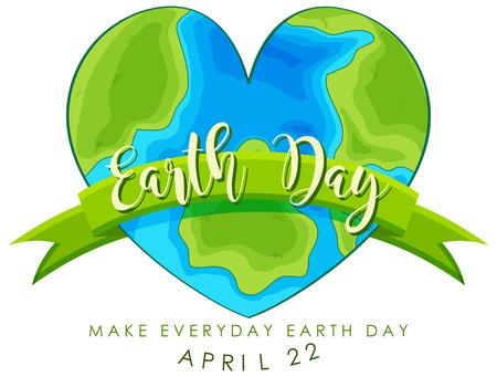 An earth day logo illustration Ilustração