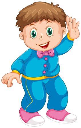 Un personnage de garçon mignon