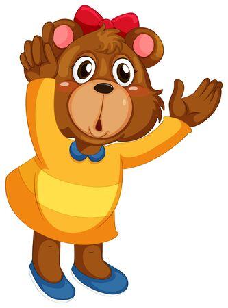 A cute bear character Vetores