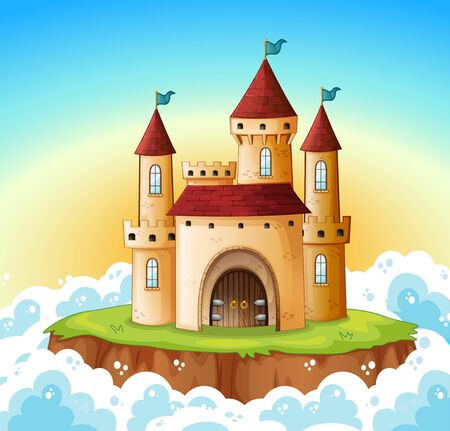 A castle on the sky Vetores