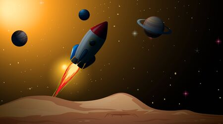 A beautiful space scene illustration
